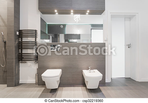 Expensive Modern Bathroom Shiny In Marble