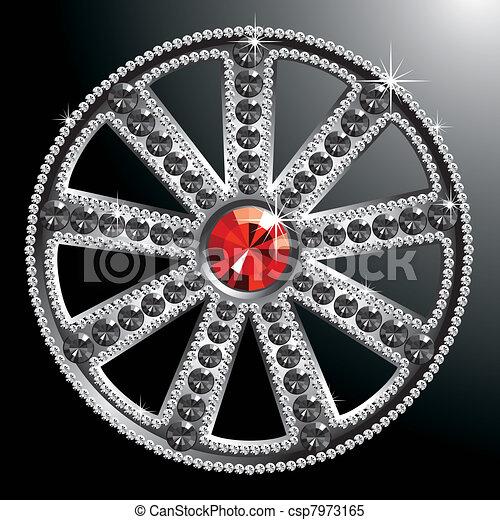 expensive silver diamond wheel - csp7973165