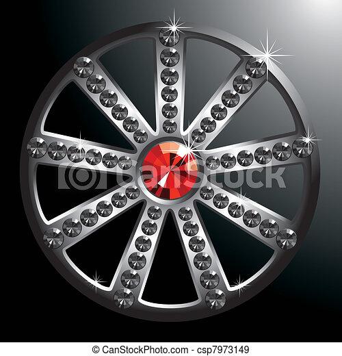 expensive silver diamond wheel - csp7973149