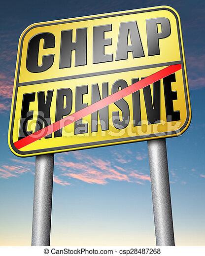expensive versus cheap - csp28487268