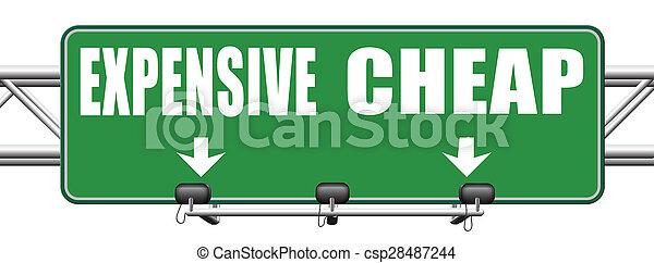 expensive versus cheap - csp28487244