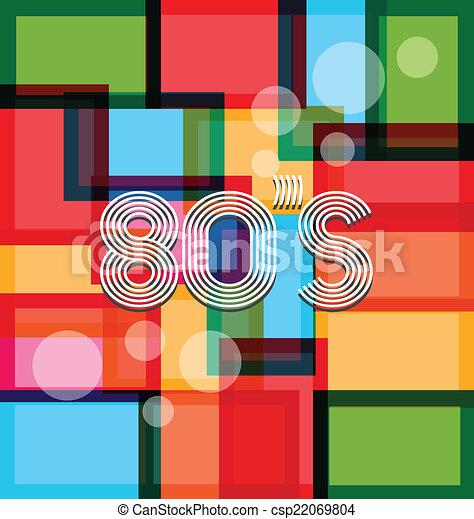 experiência., 80's, arte - csp22069804