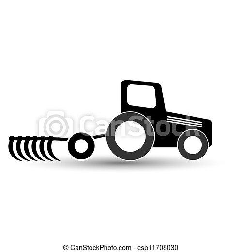 experiência., arado, pretas, branca, trator - csp11708030