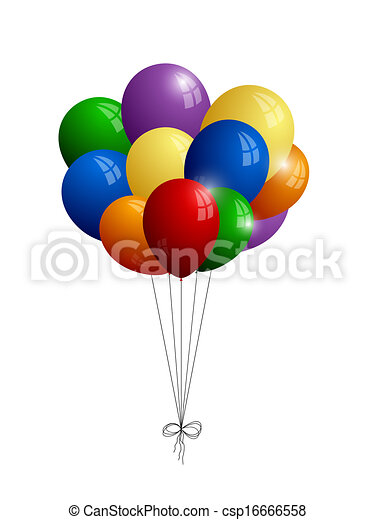 experiência., branca, balões, isolado, grupo - csp16666558