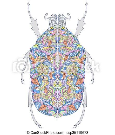 experiência., branca, coloridos, besouro - csp35119673