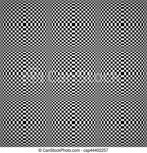 experiência., ilusão óptica, seamless - csp44402257
