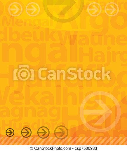 experiência., letras, amarela - csp7500933