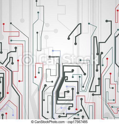experiência., tábua, circuito - csp17567485