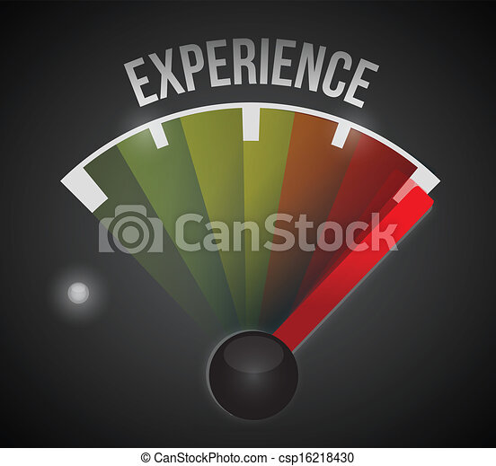 experience level measure meter from low to high - csp16218430