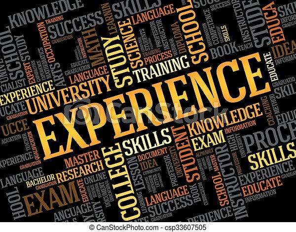 Experience word cloud - csp33607505