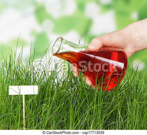 Experienced flower bed watered experimental fluid - csp17713539