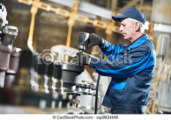 experienced industrial assembler worker - csp9634448