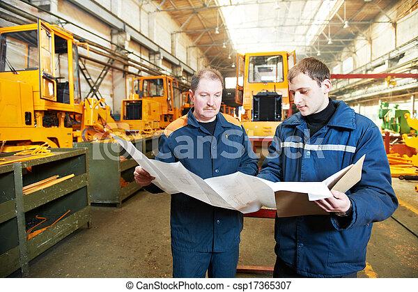 experienced industrial assembler workers - csp17365307