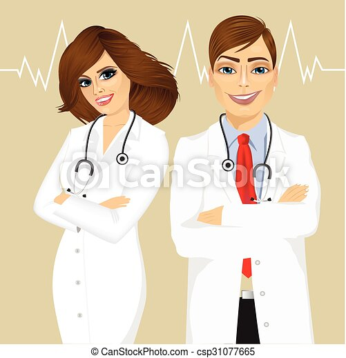 experienced male and female doctors - csp31077665