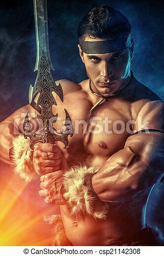 experienced warrior - csp21142308