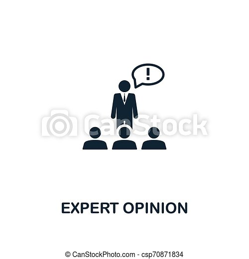 Expert Opinion icon. Premium style design from business management icons collection. Pixel perfect Expert Opinion icon for web design, apps, software, print usage - csp70871834