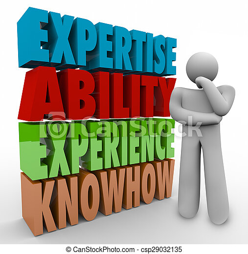 Expertise Ability Experience Knowhow Thinker Job Criteria Qualifications - csp29032135