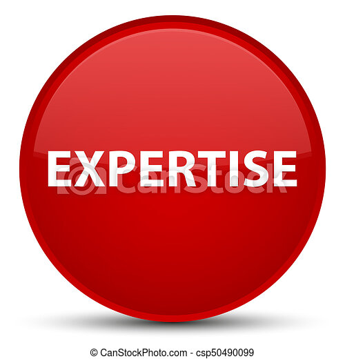 Expertise special red round button - csp50490099
