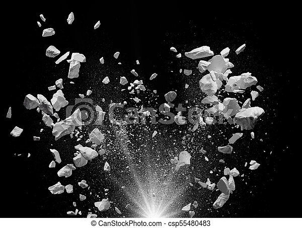 exploding debris - csp55480483