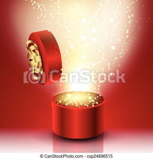 Exploding gift box - csp24696515