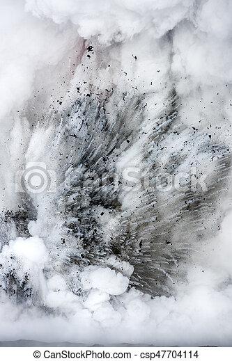 Explodingh lava flow in Hawaii - csp47704114