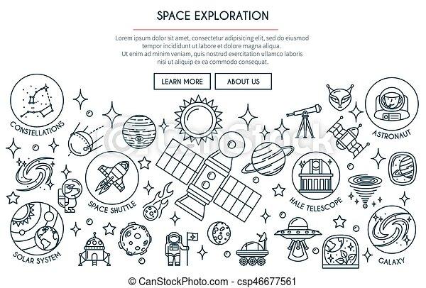exploração, 2, bandeira, espaço - csp46677561