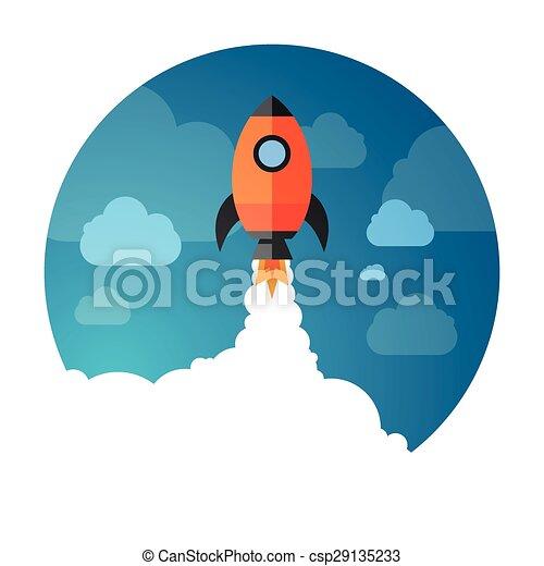 exploration, fusée, espace - csp29135233