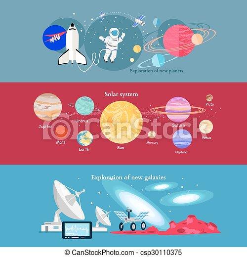 exploration, industrie, concept, cosmique, espace - csp30110375