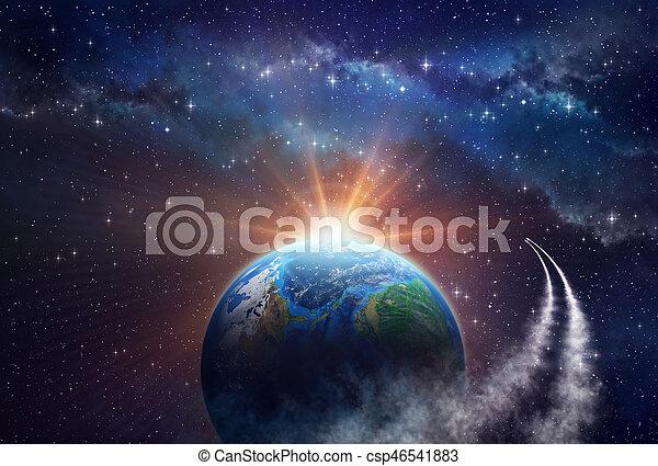 exploration, profond, espace - csp46541883