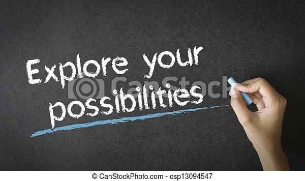 Explore Your Possibilities - csp13094547