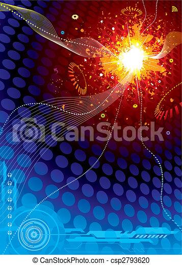 explosão espaço, tecnologia - csp2793620