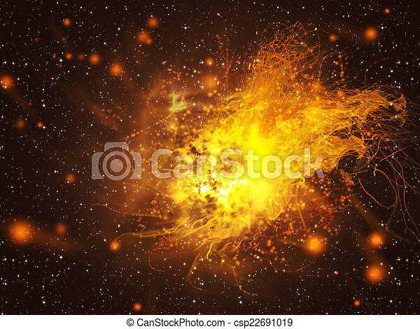 exploser, étoile, espace - csp22691019