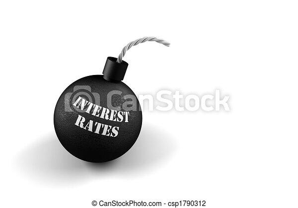 exploser, taux, intérêt - csp1790312