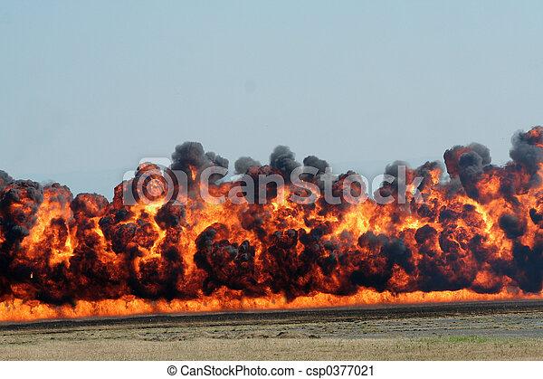 explosion and black smoke - csp0377021