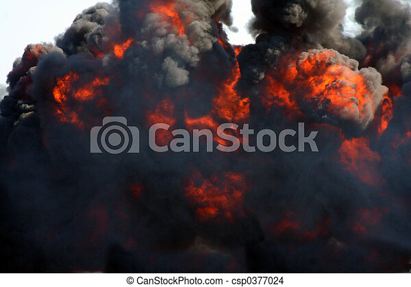 explosion and black smoke - csp0377024