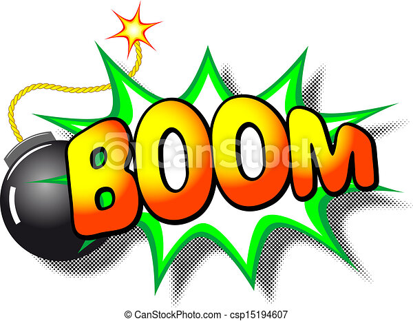 Explosion boom mot illustration vecteur boom - Boom dessin anime ...