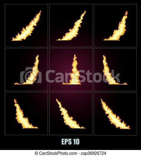 Explosion, cartoon explosion  - csp36826724