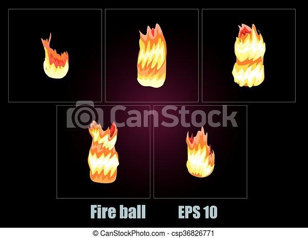 Explosion, cartoon explosion - csp36826771