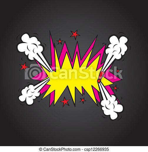 Explosion cloud - csp12266935