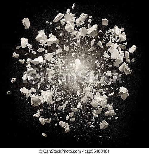 explosion debris - csp55480481