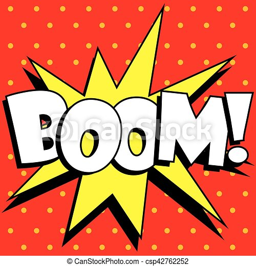 Explosion dessin anim boom explosion boom vecteur - Dessin anime boom ...