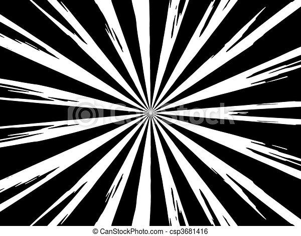 Explosion dessin anim blanc noir r sum fond - Dessin fond noir ...