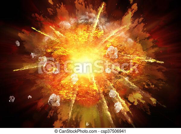 Explosion - csp37506941