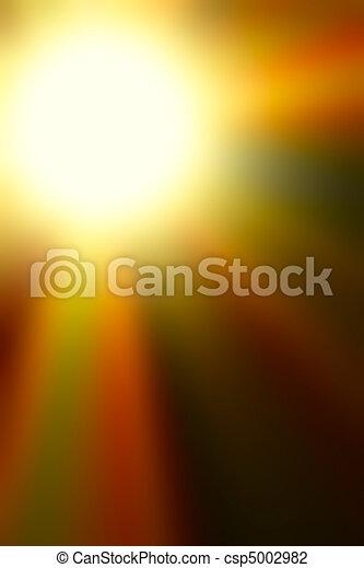 explosion, farbenfreudiges licht, abstrakt, version, orange - csp5002982