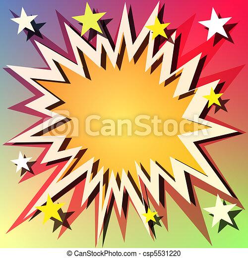 explosion, fond - csp5531220