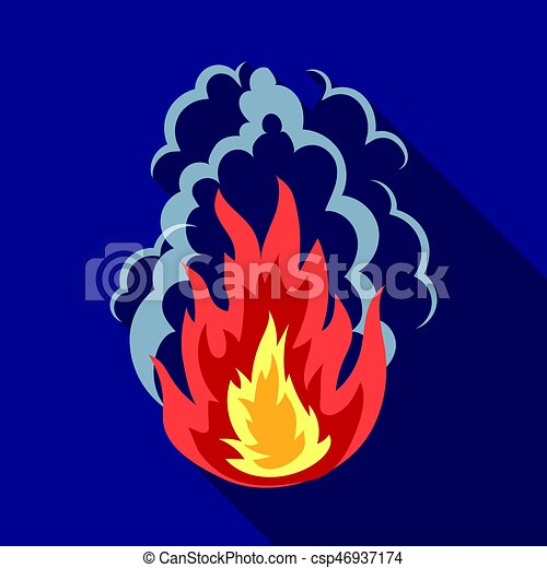 Explosion icon in flat style isolated on white background. - csp46937174