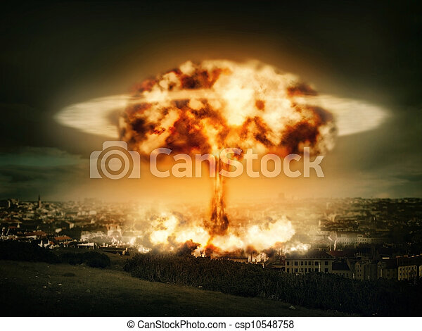 Explosion of nuclear bomb - csp10548758