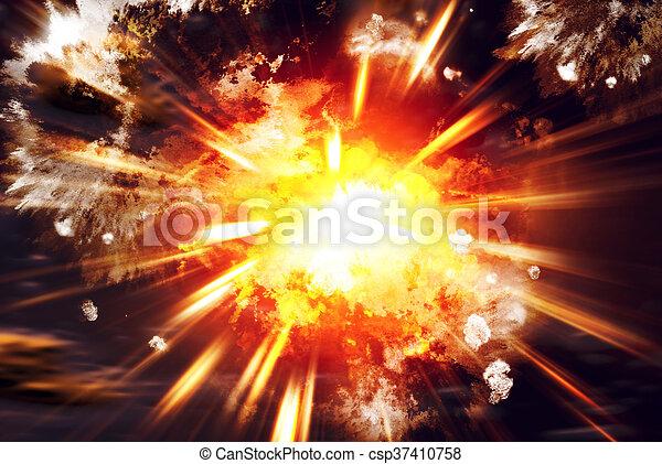 Explosion - csp37410758