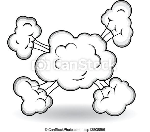 explosion, vecteur, comique, nuages - csp13808856