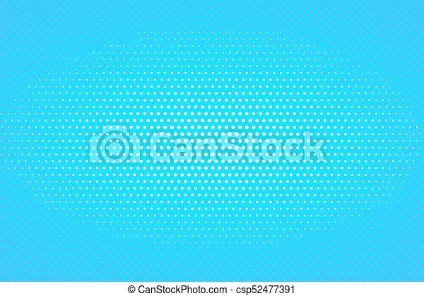 Retro Pop Art Background With Dots Light Rays